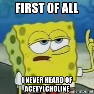 Tough Spongebob - First of all  i never heard of acetylcholine