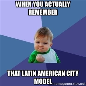 Success Kid - When you actually remember  that latin American city model