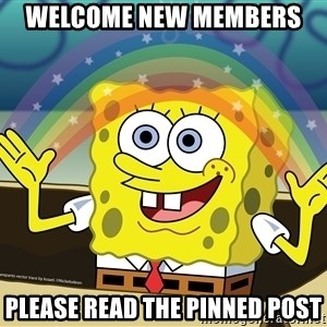 spongebob rainbow - Welcome New Members  Please Read the Pinned Post