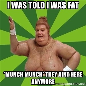 Fat Bastard - i was told i was fat *munch munch* they aint here anymore