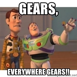 Toy story - Gears, Everywhere gears!!