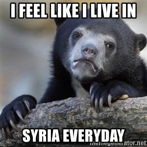 Confession Bear - I feel like I live in Syria everyday