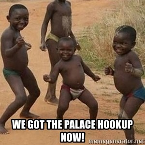 Dancing African Kid - We got the palace hookup now!