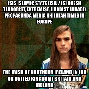 Progressive Drummer - ISIS Islamic State (ISIL / IS) Daesh Terrorist, Extremist, Jihadist (Jihadi) Propaganda Media Khilafah Times in Europe  The Irish of Northern Ireland in (UK or United Kingdom) Britain and Ireland