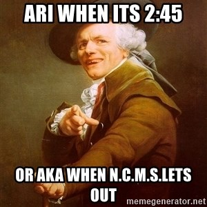 Joseph Ducreux - Ari When its 2:45 Or AKA When N.C.M.S.Lets Out