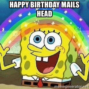 Imagination - Happy Birthday Mails head