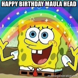 Imagination - Happy Birthday Maula head