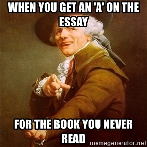 Joseph Ducreux - When you get an 'A' on the essay  for the book you never read