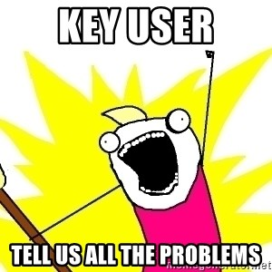 X ALL THE THINGS - Key User tell us all the problems