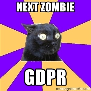 Anxiety Cat - Next Zombie GDPR