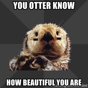Roller Derby Otter - YOU OTTER KNOW HOW BEAUTIFUL YOU ARE