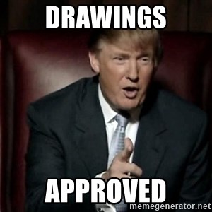 Donald Trump - DRAWINGS APPROVED
