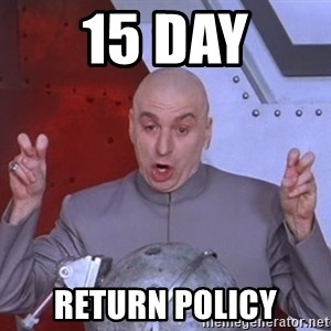 Dr. Evil Air Quotes - 15 day Return policy