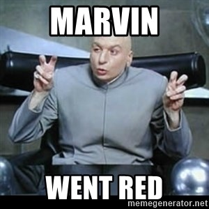 dr. evil quotation marks - Marvin went red