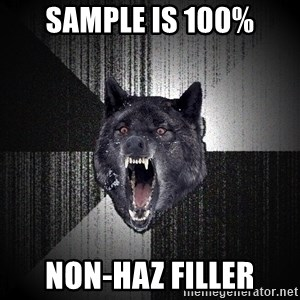 Insanity Wolf - Sample is 100% Non-Haz Filler