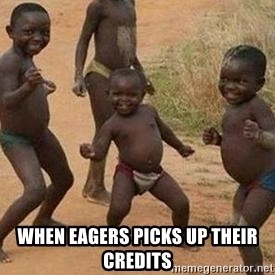 african children dancing - WHEN EAGERS PICKS UP THEIR CREDITS