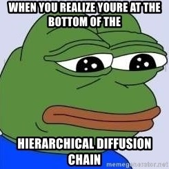 Sad Frog Color - when you realize youre at the bottom of the  hierarchical diffusion chain
