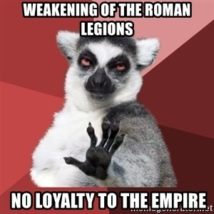 Chill Out Lemur - Weakening of the Roman legions  no loyalty to the empire
