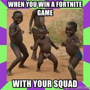 african kids dancing - When you win a fortnite game with your squad