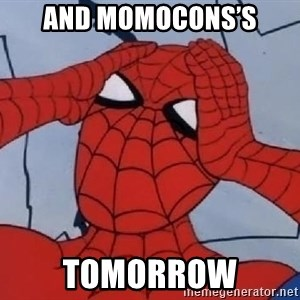 Hungover Spiderman - And momocons's Tomorrow