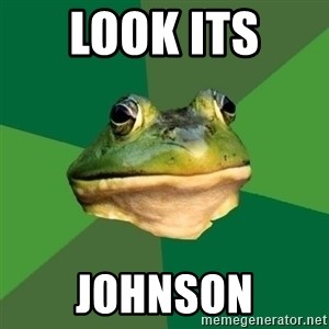 Foul Bachelor Frog - look its  johnson