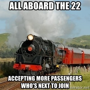 Success Train - All Aboard the 22  accepting more passengers who's next to join