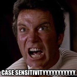 Khan - case sensitivityyyyyyyyyyy