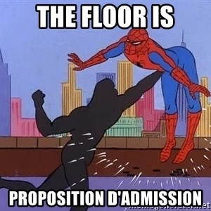 crotch punch spiderman - the floor is proposition d'admission