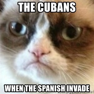 angry cat asshole - The cubans When the Spanish invade
