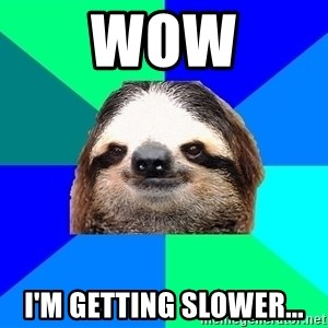 Socially Lazy Sloth - wow i'm getting slower...