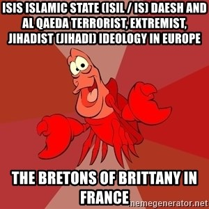 Crab - ISIS Islamic State (ISIL / IS) Daesh and Al Qaeda Terrorist, Extremist, Jihadist (Jihadi) Ideology in Europe  The Bretons of Brittany in France