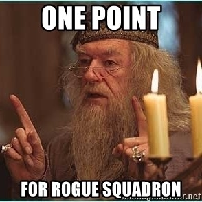 dumbledore fingers - One Point for Rogue Squadron