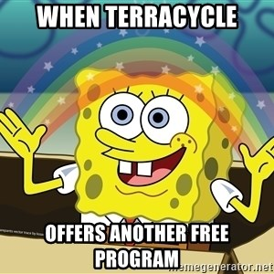 spongebob rainbow - When TerraCycle offers another free program