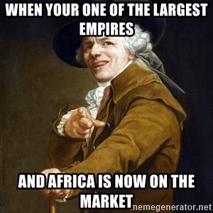 Joseph Ducreaux - When your one of the largest empires  and Africa is now on the market