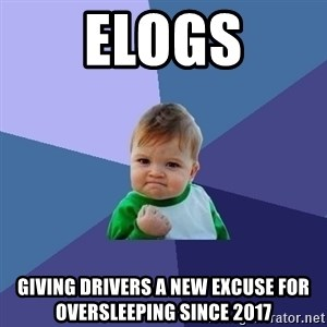 Success Kid - Elogs Giving drivers a new excuse for oversleeping since 2017