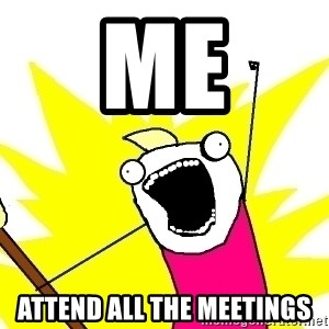 X ALL THE THINGS - ME Attend all the meetings