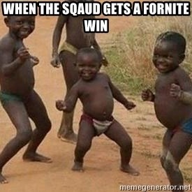 african children dancing - when the sqaud gets a fornite win