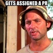 Bill Murray Caddyshack - Gets assigned a PR