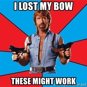 Chuck Norris  - i lost my bow these might work