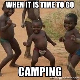 african children dancing - When it is time to go camping