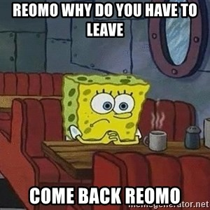 Coffee shop spongebob - Reomo why do you have to leave Come back reomo