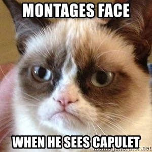 Angry Cat Meme - Montages face  When he sees capulet