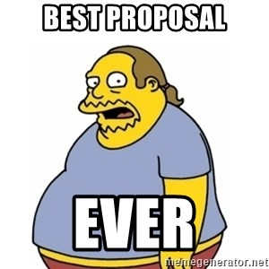 Comic Book Guy Worst Ever - Best proposal ever