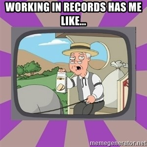 Pepperidge Farm Remembers FG - Working in records has me like...