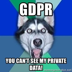 Spoiler Dog - GDPR You can't see my private data!
