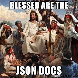 storytime jesus - blessed are the  json docs