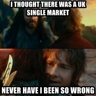 Never Have I Been So Wrong - I THOUGHT THERE WAS A UK SINGLE MARKET NEVER HAVE I BEEN SO WRONG