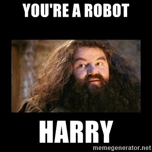 You're a Wizard Harry - You're a robot Harry