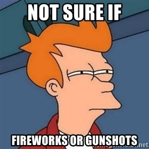 Not sure if troll - Not sure if Fireworks or gunshots