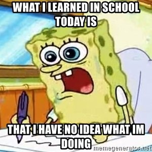 Spongebob What I Learned In Boating School Is - What I learned in school today is That i have no idea what im doing